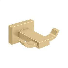 Double Robe Hook, 55D Series - Brushed Brass