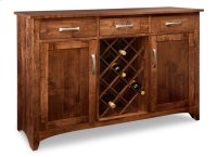 Glengarry Sideboard w/2 Wood Doors & 3/Drws & 2/Wood Adjust & Wine Rack Product Image