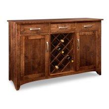 Glengarry Sideboard w/2 Wood Doors & 3/Drws & 2/Wood Adjust & Wine Rack