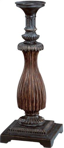 "Candle Holder - Dark Bronze/ant. Gold, 16""h"