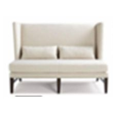 Striped Beige Accent Settee