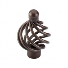 Flower Twist Knob 1 1/4 Inch - Oil Rubbed Bronze