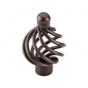 Flower Twist Knob 1 1/4 Inch - Oil Rubbed Bronze