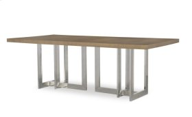 Milan Oak Dining Table With Metal Base