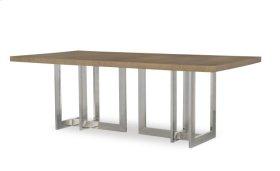 Milan Oak Dining Table With Metal Base