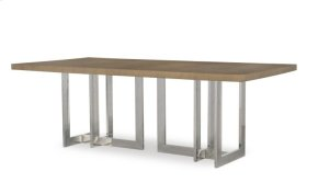 Oak Dining Table With Metal Base