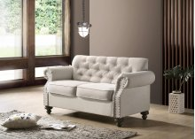9109 Beige Loveseat