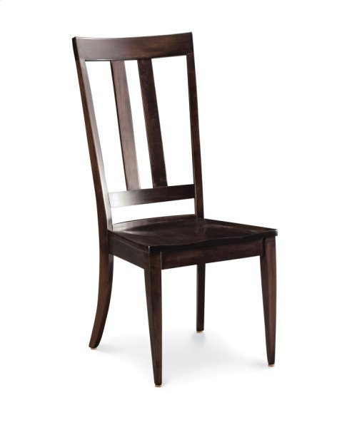 Harvest Side Chair, Leather Cushion Seat
