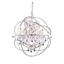 1130 Geneva Collection Pendent Lamp Polished Nickel Finish