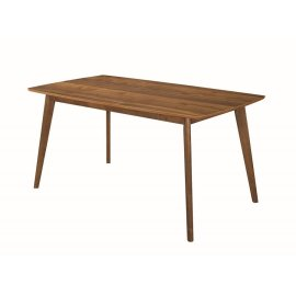 Garcetti Retro Walnut Dining Table