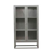 Modern 2 Shelf Display Cabinet in Grey Oak
