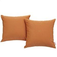 Convene 2 Piece Outdoor Patio Wicker Rattan Pillow Set in Orange