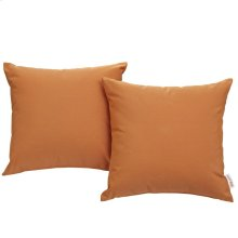 Convene 2 Piece Outdoor Patio Wicker Rattan Pillow Set in Orange