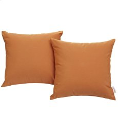 Convene Two Piece Outdoor Patio Pillow Set in Orange Product Image