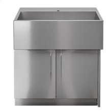 """OUTDOOR KITCHEN CABINETS IN STAINLESS STEEL  PURE 36"""" Sink Cabinet SocialCorner 2 doors Right"""