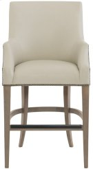 Keeley Leather Counter Stool in Smoke Product Image
