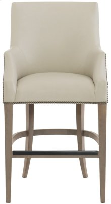Keeley Leather Counter Stool in Smoke