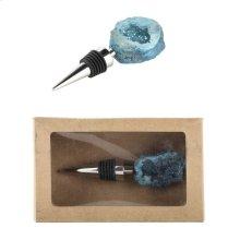 Bottle Stopper,Turquoise Geode