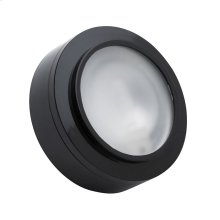 XENON PUCK LIGHT BLACK FRST LENS W / LAMP