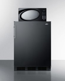 Compact Refrigerator-freezer-microwave Unit With Dual Evaporator Cooling and Black Exterior Finish
