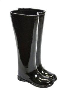 Black Boots Umbrella Stand