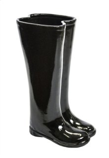 Black Boots Umbrella Stand