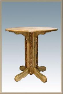 Glacier Country Log Pedestal Pub Table