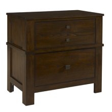 "Landon ""Antique Walnut"" 2-Drawer Nightstand"