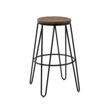 Modrest Gelson Modern Wood Top Bar Stool (Set of 2)