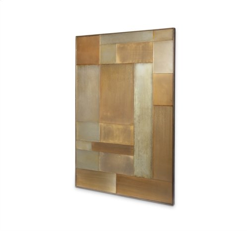 Maci Patchwork Mirror - Gold