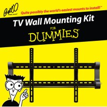 Low profile mount for most* 37 52 TVs including For Dummies installation guide and For Dummies step-by-step DVD video.