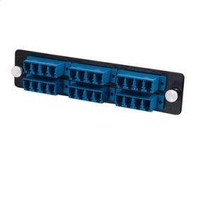 Q-Series™ 24-Strand, LC Quad, PB Insert, MM/SM, Blue LC Adapter Panel