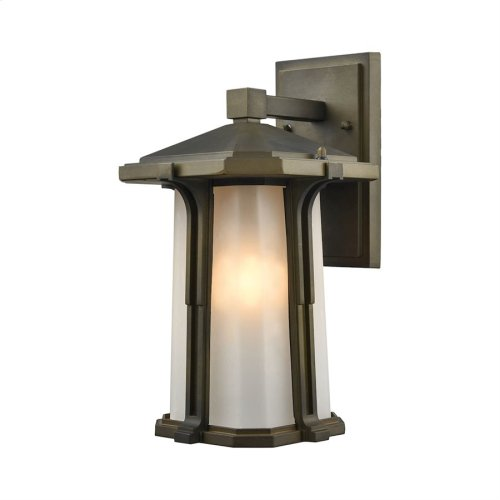 Brighton 1-Light Outdoor Wall Lamp in Smoked Bronze