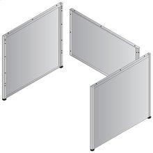 "Metal Desk Base - 66""/68"" Double Pedestal"
