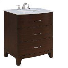 30 in. Single Bathroom Vanity set in Brown