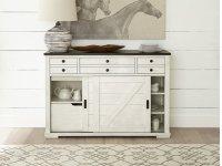 Sideboard - Walnut/White Finish Product Image
