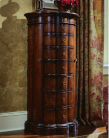 Shaped Jewelry Armoire-Cherry