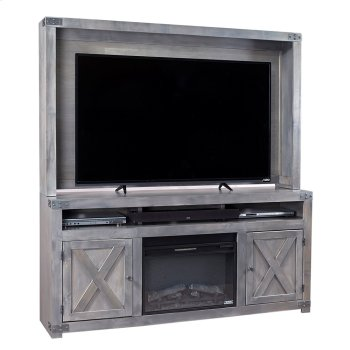 """72"""" Fireplace Console Product Image"""