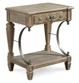 Arch Salvage Gabriel Bedside Table - Parchment Product Image