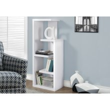 "BOOKCASE - 48""H / WHITE ACCENT DISPLAY UNIT"