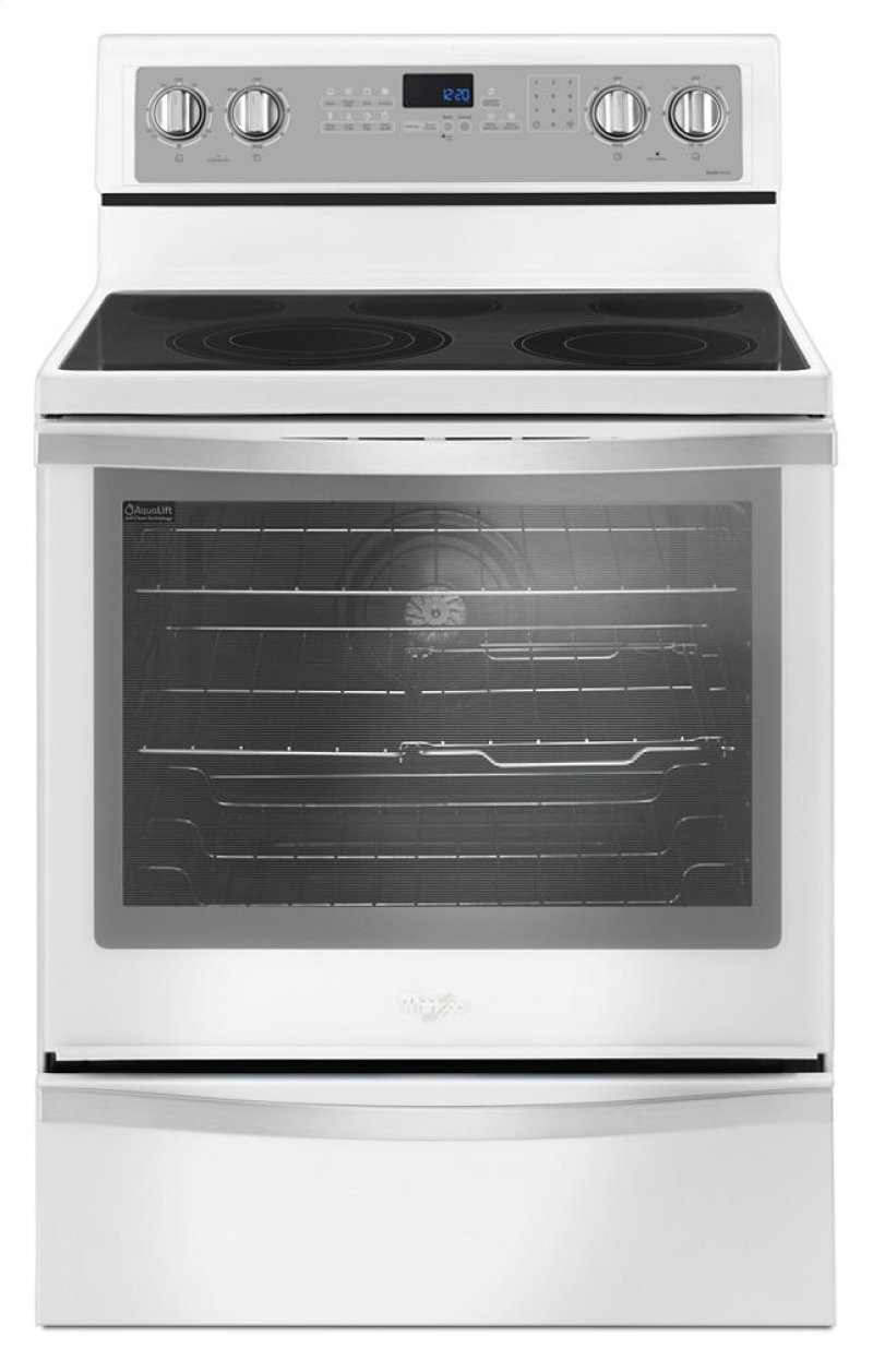 Whirlpool 6 4 Cu Ft Freestanding Electric Range With True Convection Hidden Canada Logo