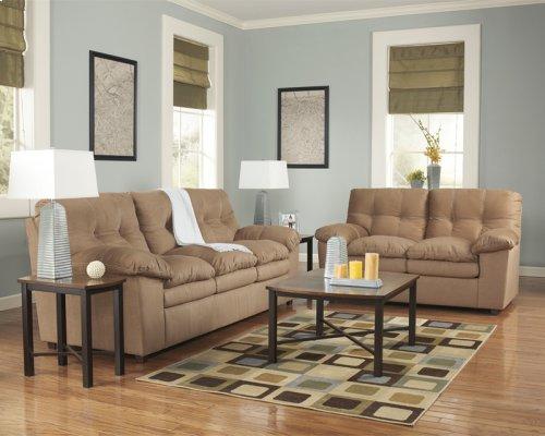 Signature Design by Ashley Mercer Living Room Set in Mocha Fabric