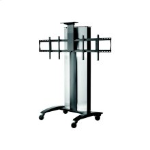 """SmartMount® Flat Panel Video Conferencing Cart For Two 40"""" to 55"""" Displays"""