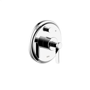Tub and Shower Trim Plate with Handle Darby (series 15) Polished Chrome