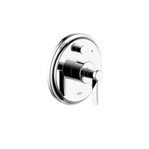 Tub and Shower Trim Plate With Handle Darby Series 15 Polished Chrome