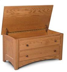 Royal Mission Blanket Chest with False Fronts, Fabric Cushion Top