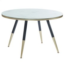 Cordelia Round Dining Table in White