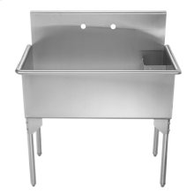 Pearlhaus Collection large, single bowl commercial freestanding utility sink.