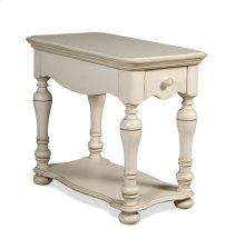 Placid Cove Chairside Table Honeysuckle White finish