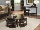 Round Cocktail Table with 4 Ottomans Product Image